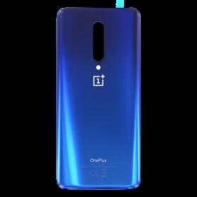 Vitre arrière OnePlus 7 Pro Bleu - Avec logo + Adhesif