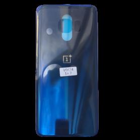 Vitre arrière OnePlus 7 Bleu - Avec logo + Adhesif