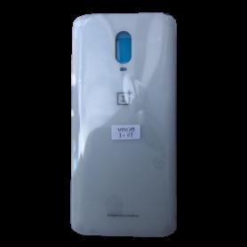 Vitre arrière OnePlus 6T Blanc - Avec logo + Adhesif