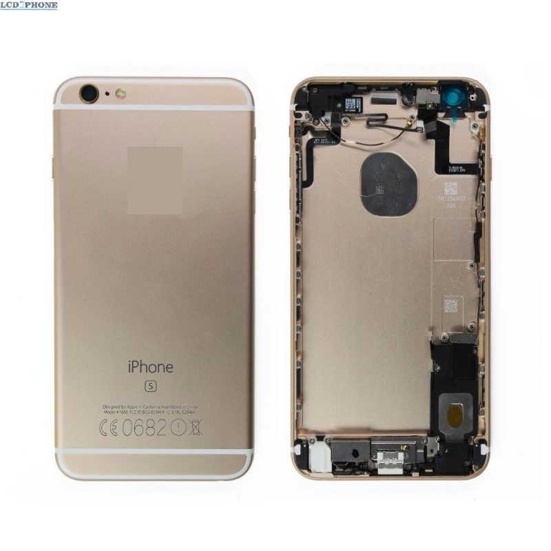 chassis complet coque arriere iphone 6s plus or coque arriere power connecteur logo imei