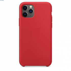 Coque en silicone compatible iPhone 11 Rouge