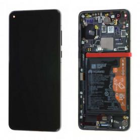 Écran Huawei P40 Noir Sur Châssis + Batterie (Service Pack)