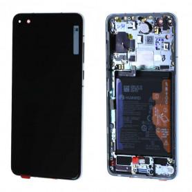 Écran Huawei P40 Argent Sur Châssis + Batterie (Service Pack)