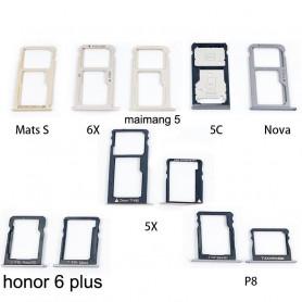 Tiroir SIM HUAWEI Honor 6 Plus Noir