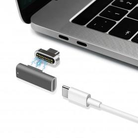 Adaptateur magnétique Type C Macbook 20Pins jusqu'à 100W 10Gbp / s - Silver