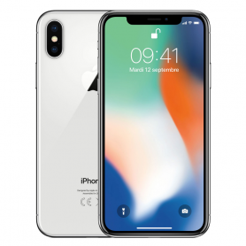 iPhone X 256 Go Argent / Blanc - Grade A