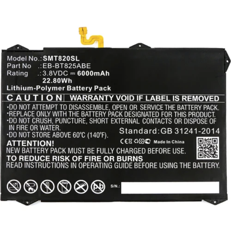 Batterie EB-BT825ABA Samsung Tab S3 (T820)