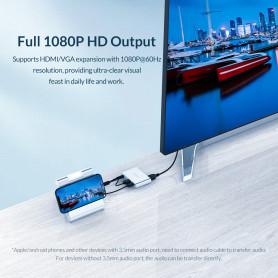 Adaptateur USB / HDMI+VGA+AUX ORICO Phone|PC Display (PE-M1)