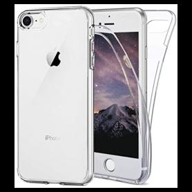 Coque Protection pour iPhone Transparente Avant et Arrière 360° Pleine Couverture Anti-chute