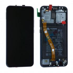 Ecran Huawei Mate 20 Lite Blue Sur Châssis + Batterie (Service Pack)