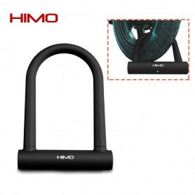 HIMO Double-ouvert U Serrure  Anti-vol En Silicone Vélo Moto - Noir