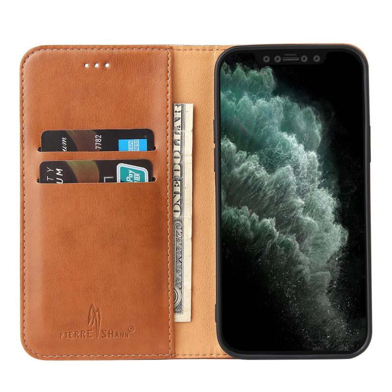 Étui Rabat Portefeuille En Cuir PU 2 en 1 pour iPhone