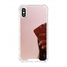 Coque en silicone protection avec miroir iPhone