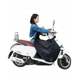 Tablier Imperméable Moto - Noir