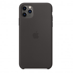 Coque en silicone iPhone 11 Pro Max - Noir - Retail Box - Origine