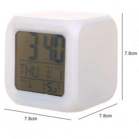 Réveil Matin Horloge Digital Avec 3 luminosité réglable