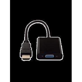 Adaptateur HDMI mâle vers VGA femelle - Noir