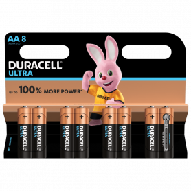 Piles Duracell Alkalines Ultra Power AA x 8pcs