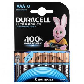 Piles Duracell Alkalines Ultra Power AAA BX x 8pcs