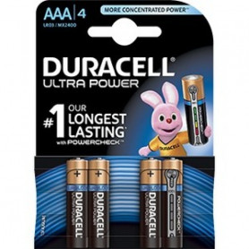 Piles Duracell Alcalines Ultra Power AAA x 4pcs