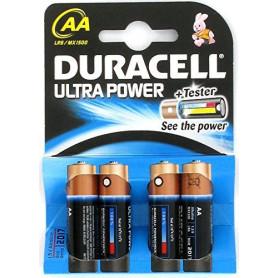 Piles Alcalines AA Duracell Ultra Power x 4pcs