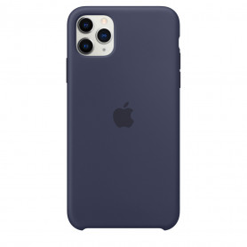 Coque en silicone pour iPhone 11 Pro Max - Bleu nuit - Retail Box - Origine