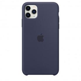 Coque en silicone pour iPhone 11 Pro - Bleu nuit - Retail Box - Origine