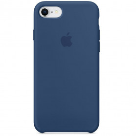 Coque en silicone pour iPhone 7 / 8 SE2020 - Bleu Cobalt - Retail Box - Origine