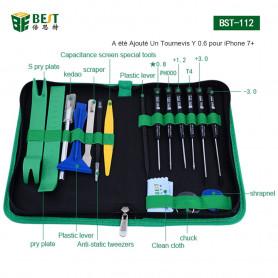 Tournevis et lot d'outils Cutter+Mesure+Pince+Plastique/Métallique Ouverture Réparation pr Smartphone/Tablette LCD Ecran