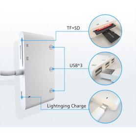 HUB lightning 6 en 1 SD TF USB