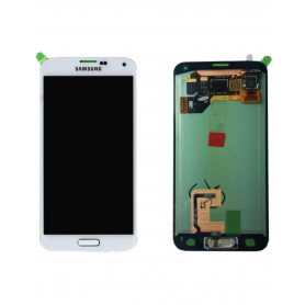 Ecran Samsung Galaxy S5 (G900F) Blanc LCD (Compatible) Avec Adhésif
