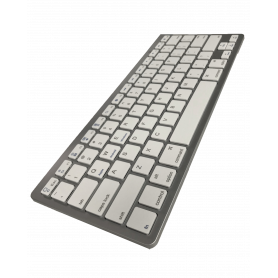 Clavier (qwerty) sans fil Bluetooth Ultra Slim iOS, iPhone, iPad, Android, Mac, Windows - Blanc