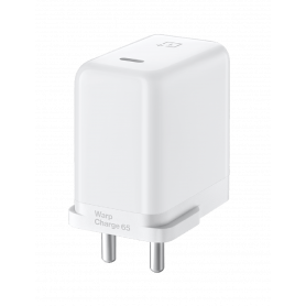 Adaptateur Secteur OnePlus Warp Charge 65W Blanc - Version Indian