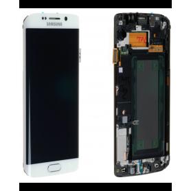 Ecran Samsung Galaxy S6 Edge (G925F) Blanc (Service Pack)