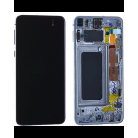 Écran Samsung Galaxy S10E (G970) Blanc + Châssis (Service Pack)