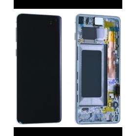 Ecran Samsung Galaxy S10 (G973) Blanc + Châssis (Service Pack)