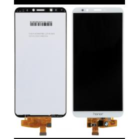 Ecran Huawei Honor 7C Blanc Vitre Tactile + LCD + Chassis