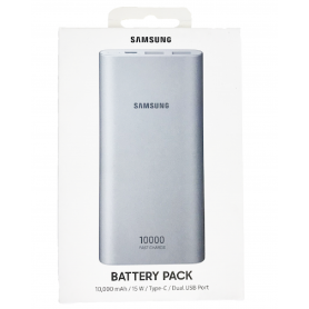 Power Bank Samsung 10 000mAh 2 USB + USB C - Silver (Origine)
