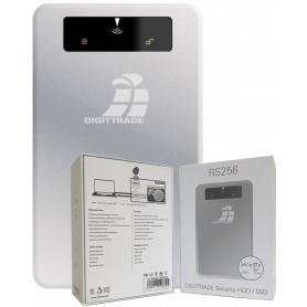 Disque Dur Portable SSD Digittrade DG-RS256-1000SSD - Externe - 1T - USB 3.0 - Argent