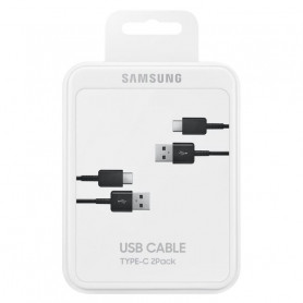 Câble USB / Type-C Samsung EP-DG930 - Noir - Pack de 2 Câbles - Retail Box - Origine