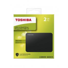 Disque Dur Externe USB 3.0 Toshiba Canvio Basics 2 To - Noir