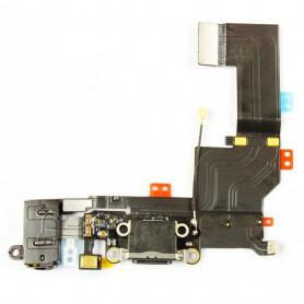 Connecteur de charge + antenne GSM + Prise jack + Micro - iPhone 5s noir