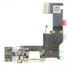 Connecteur de charge + antenne GSM + Prise jack + Micro - iPhone 5s blanc