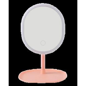 Miroir de Maquillage Lumineux LED - Rose