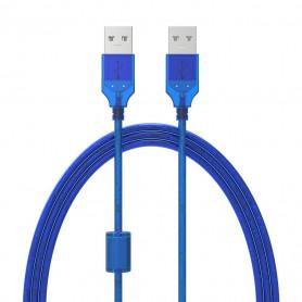 Rallonge USB 2.0 Type A mâle / mâle - 1,5m Bleu