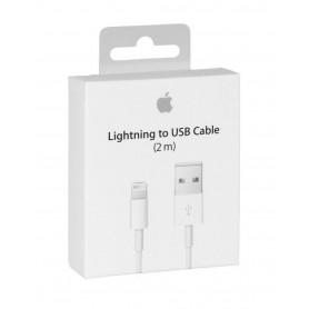 Câble USB Lightning Apple - 2M - Retail Box (Origine)