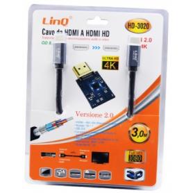 Câble HDMI Mâle / HDMI HD Mâle 3m LinQ HD-3020