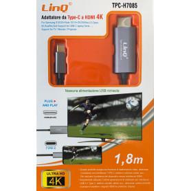 Adaptateur Type-C / HDMI 4K 1,8m LinQ TPC-H7085