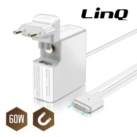 """Chargeur Secteur Macbook Pro 13"""" MagSafe 2 60W / 16.5V 3.65A LinQ A2-60"""