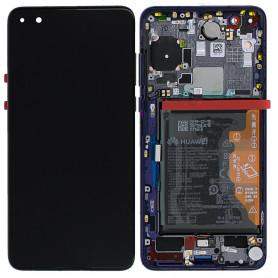 Ecran Huawei P40 Pro Bleu Sur Châssis + Batterie 02353PJJ (Service Pack)